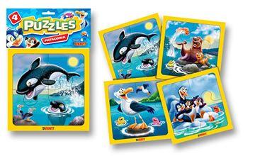 Imagen de 4 Puzzles 4 piezas - Patagonia