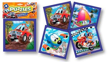 Imagen de 4 Puzzles 4 piezas - Transporte