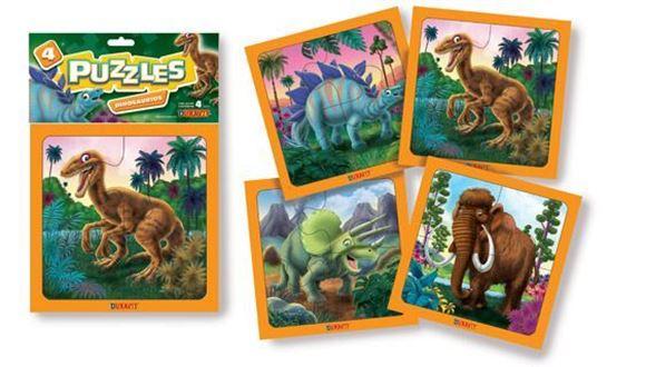Imagen de 4 Puzzles 4 piezas - Dinosaurios