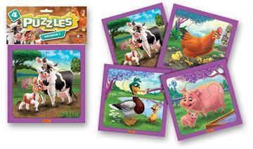 Imagen de 4 Puzzles 4 piezas - Granja