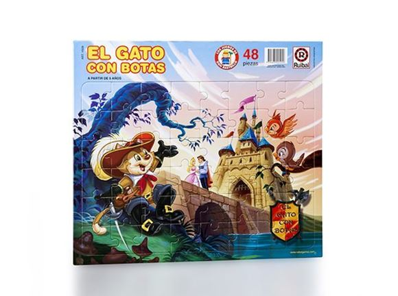 Imagen de Puzzle 48 piezas - El Gato Con Botas