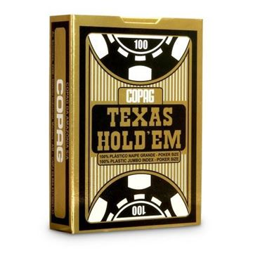 Imagen de Naipe Copag 100% Plastico Texas Hold'Em Jumbo Index