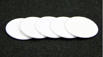 Imagen de Fichas redondas 30 mm x 100 Unidades BLANCO