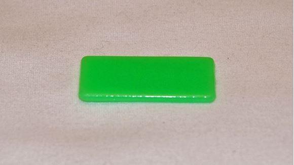 Imagen de Fichas rectangulares 20 x 40mm x 100 Unidades VERDES