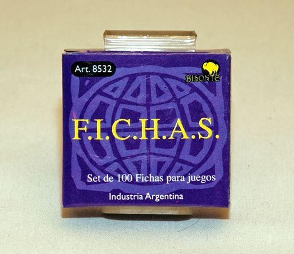Imagen de Fichas Plasticas 12,5 Mm. X 100 U. Azules