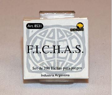 Imagen de Fichas Plasticas 12,5 Mm. X 100 U. Blancas
