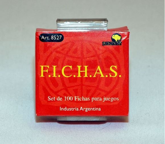 Imagen de Fichas Plasticas 12,5 Mm. X 100 U. Rojas