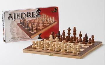 Imagen de Ajedrez Caja-Tablero Enchapada 29cm