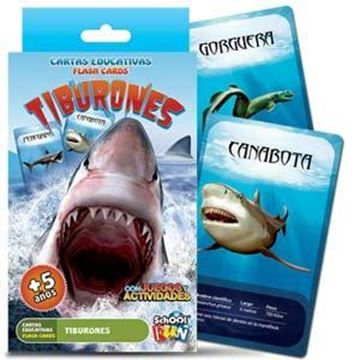 Imagen de Cartas Educativas Tiburones