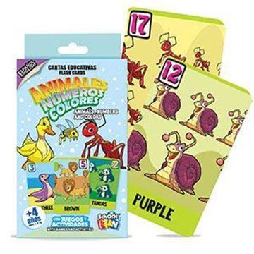 Imagen de Cartas Educativas Colores Animales Numeros