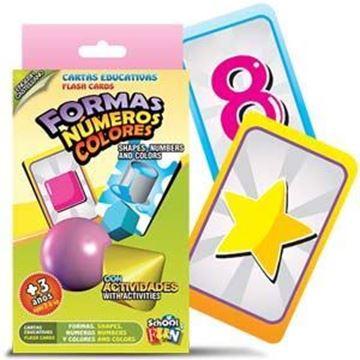Imagen de Cartas Educativas Colores Formas Numeros