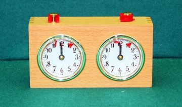 Imagen de Reloj Ajedrez A Cuerda Caja de madera natural