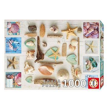 Imagen de Puzzle 1000 Piezas - Collage de Caracolas