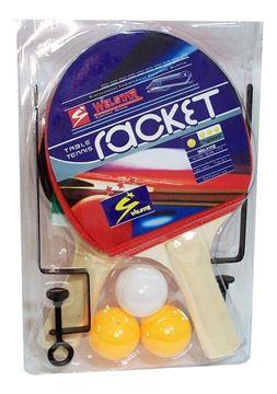 Imagen de Set Ping Pong Welstar - 2 paleta 3 pelota red y soporte